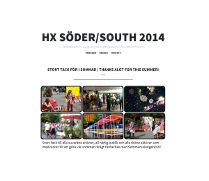 HX SOUTH 2014