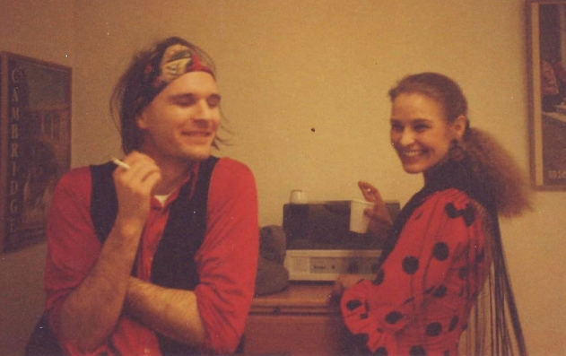 Before a flamenco gig. Jens and Susanne Andersin