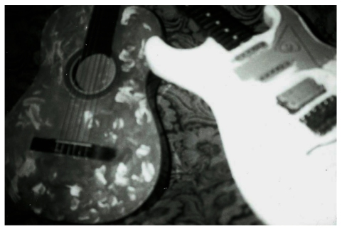 The guitars. The one on the left was with me all over Europe.