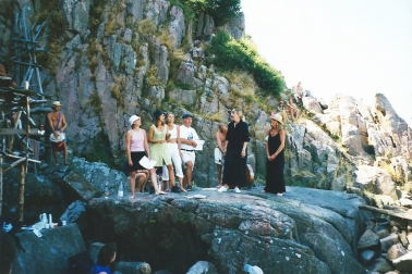 Jazz concerts at Nimis. We did this for some summers. Fantastic. Lovely ladies.