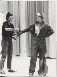 Doing Cut piece by Yoko Ono at EASA