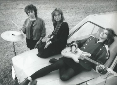 My first band with real instruments. Cassandra. From the left; Camilla Jonsson (drums), Jeanette Simpson (bass), Me (guitar and vocals)